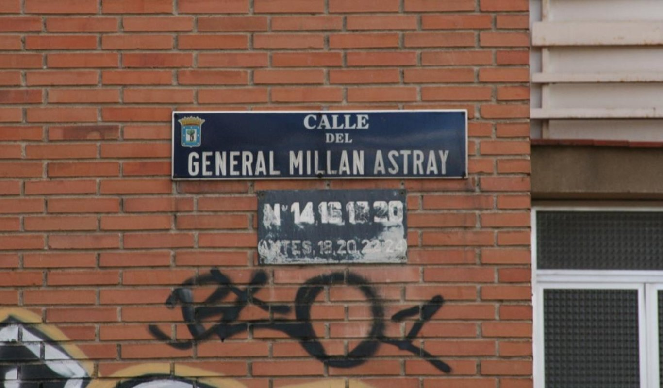 Calle General Millán-Astray de Madrid.