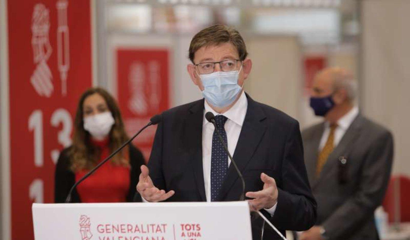 Ximo Puig durante una rueda de prensa (1)
